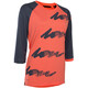 ION Scrub_Amp 3/4 LS Tee Women hot coral